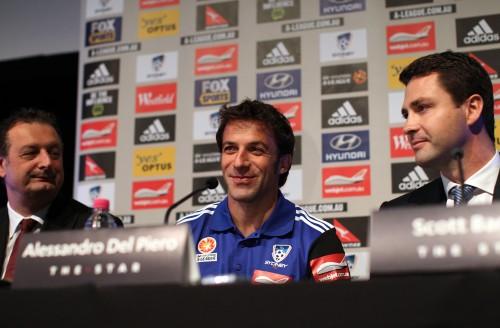デル・ピエロの練習試合での印象深いプレーをシドニーFC監督が称賛