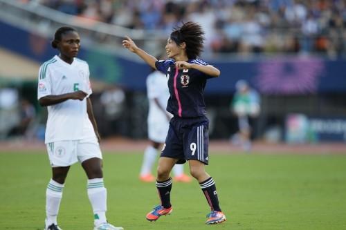 今大会6点目をマークした田中陽子「蹴ったら入りました」/U-20女子W杯