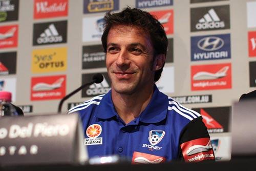 デル・ピエロ、シドニーFC入団会見で意気込み「勝つためにここに来た」