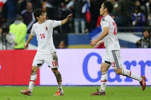 決勝ゴールを挙げた香川真司「さらに向上できると思う」/フランス戦