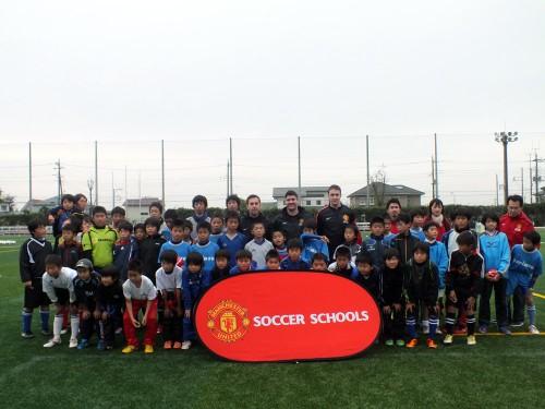 本場マンUサッカースクールコーチが来日、マンU流トレーニングを指導