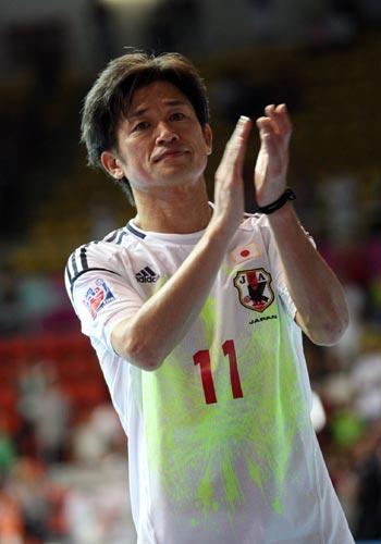 カズ「今日からまた新たな出発」…フットサル日本代表、W杯ベスト16で敗退