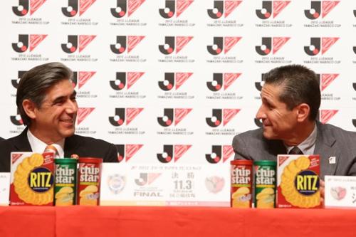鹿島のジョルジーニョ監督「我々には経験豊富な選手が多い」/ナビスコカップ前夜祭