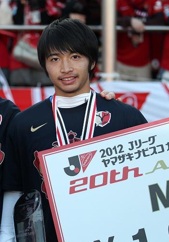 鹿島の20歳柴崎岳がベストヤングプレーヤー賞に選出
