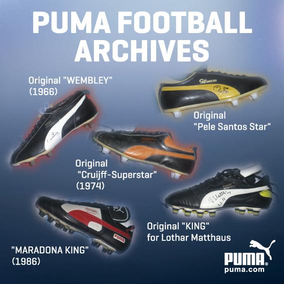 プーマストア大阪で伝説のスパイク『PUMA KING』の歴代モデルが期間限定公開