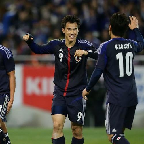 2得点の岡崎「欧州でイメージしたことがゴールに」/ラトビア戦
