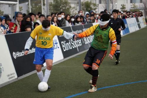 ブラインドサッカーブラジル代表が9得点大勝/フィアットカルチョ2013