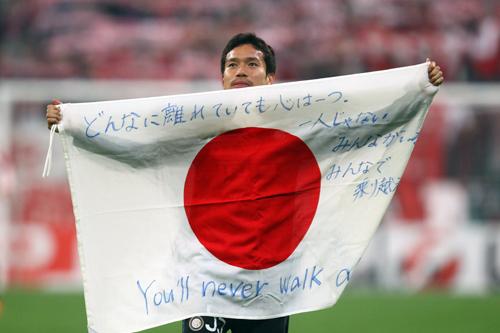 長友「震災から2年経った今も日本中のみんなで進んでいきたい」