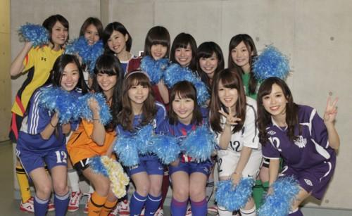 大学サッカー公式応援マネージャー「JUFA GIRL」13名が発表