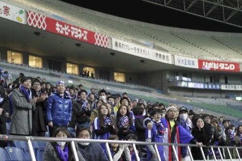 深夜の埼玉スタジアムに約700名が集結/日本代表パブリックビューイング