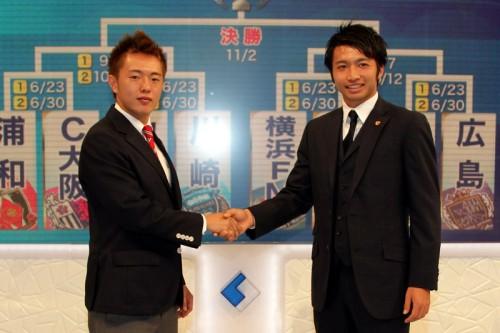 鹿島の柴崎「1試合大切に」、横浜FMの齋藤「第1戦が大事」/ナビスコ杯