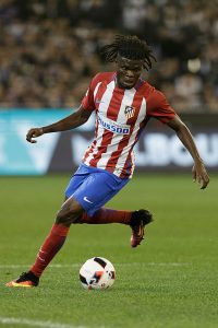 MELBOURNE, AUSTRALIA - JULY 29:  Thomas Partey of Atletico de Madrid controls for the ball during 2016 International Champions Cup Australia match between Tottenham Hotspur and Atletico de Madrid at Melbourne Cricket Ground on July 29, 2016 in Melbourne, Australia.  (Photo by Daniel Pockett/Getty Images for ICC)