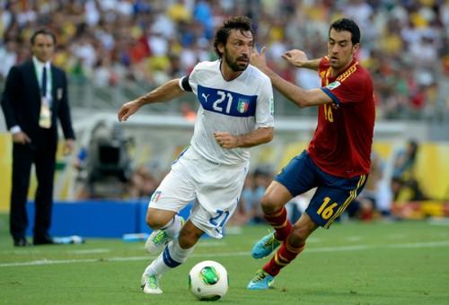 イタリア代表MFピルロとDFバルツァッリ、負傷でウルグアイ戦欠場