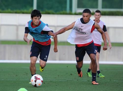 アーセナルFWチェンバレン「香川は才能があってとてもいい選手」