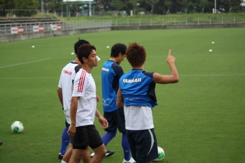 C大阪に合流の柿谷、練習参加の香川に「ナイスゴール」と祝福受ける