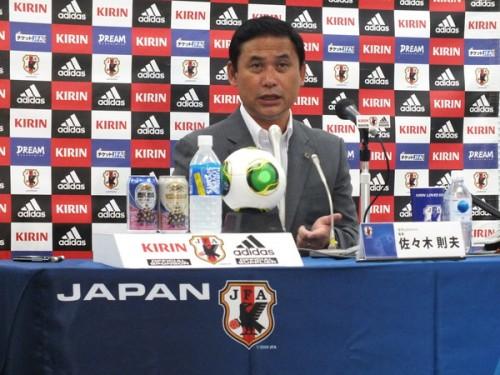 佐々木監督、澤選外に「また故障が起きた時のリスクを考えた」