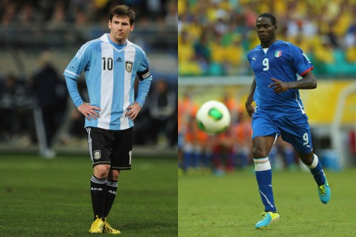 イタリア対アルゼンチン、バロテッリとメッシの両チームエースが欠場