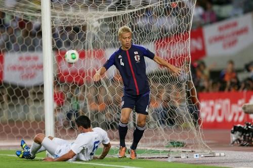 日本が8戦ぶり完封勝利、本田らの後半3得点でグアテマラに快勝