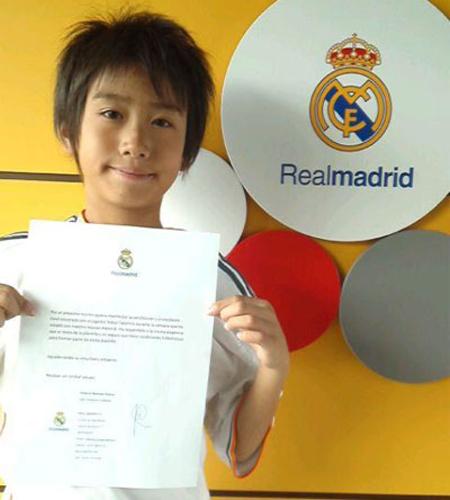 9歳の中井卓大君、日本人初のレアル・マドリード下部組織入団へ