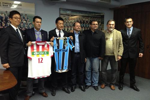 関西サッカーリーグ1部のFC大阪がブラジルの名門グレミオと業務提携