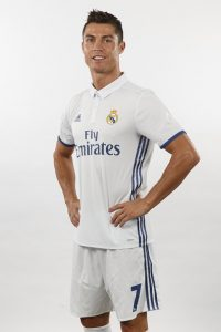 MADRID, SPAIN - AUGUST 18:  Cristiano Ronaldo of Real Madrid poses during a portrait session at Valdebebas training ground on August 18, 2016 in Madrid, Spain.  (Photo by Angel Martinez/Real Madrid via Getty Images)