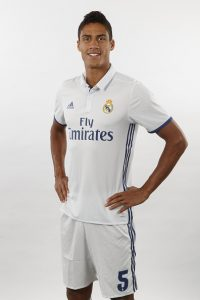 MADRID, SPAIN - AUGUST 18:  Raphael Varane of Real Madrid poses during a portrait session at Valdebebas training ground on August 18, 2016 in Madrid, Spain.  (Photo by Angel Martinez/Real Madrid via Getty Images)