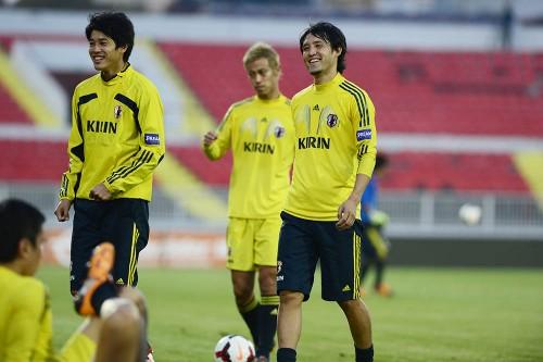 セルビア戦を控えた日本代表、足首負傷の遠藤が前日練習で復帰