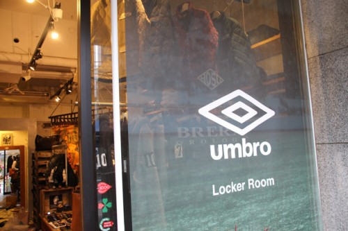 10月26日、南青山に『UMBRO Locker Room』がオープン