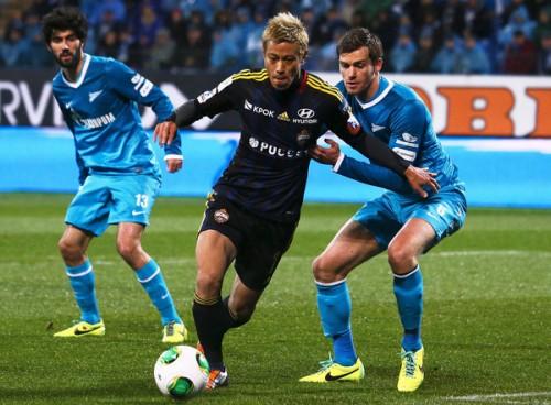 CSKAがリーグ3連敗で5試合白星なし…ゼニトに完封負け、本田はフル出場