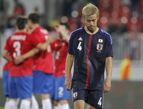 4試合連続ゴールならずの日本代表MF本田「悲観する必要はない」