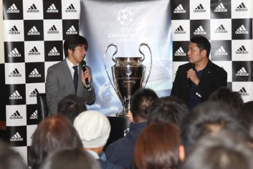 UEFAチャンピオンズリーグトロフィー来日記念イベントで名波浩氏のトークショーを開催 名波「内田は欧州で守備が伸びた」