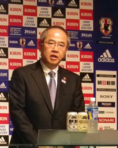 キリン社長「日本代表を支援して喜びを分かち合える場を作りたい」