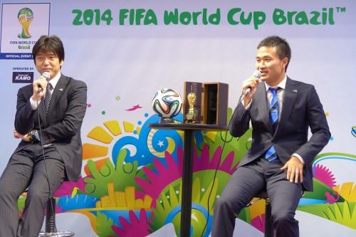 日本初、FIFA公認ワールドカップストアが大阪・梅田にオープン・・・今野、名波がゲストで登場