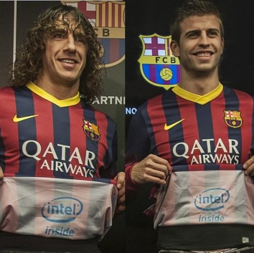 バルセロナがインテルとパートナー契約…ロゴがユニフォーム内側に表記
