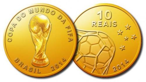 ブラジル中央銀行、W杯2014公式記念硬貨9種類を来年1月24日に発売