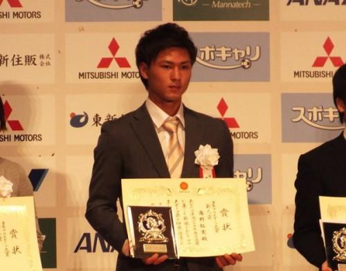 Jリーグ新人王、C大阪FW南野拓実がプロスポーツ大賞新人賞を受賞