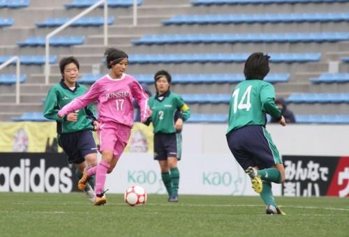 U-16女子日本代表山下史華を擁する藤枝順心が3連覇を狙う常盤木と激突 勝負はPK戦へ【高校女子サッカー選手権】