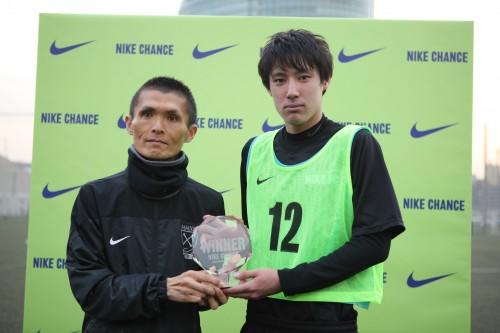 「NIKE CHANCE」関東ラウンド開催、大成高校DF楠本がビッグチャンスをつかむ