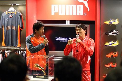 福田正博&中山雅史トークショー開催。福田「ヘタクソでも日本代表になれる」/PUMA CUP 2014