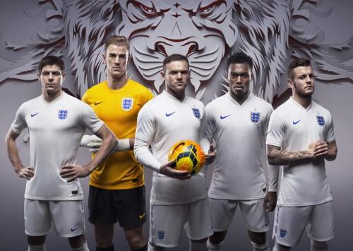 ナイキがイングランド代表の新ユニ発表…ルーニー「ブラジルでのプレーが待ち遠しい」