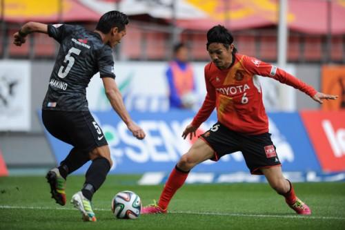 名古屋のDF刀根亮輔が練習試合で負傷、8週間の離脱