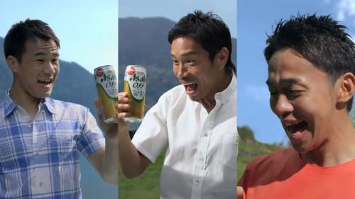 長友、岡崎、清武が『アサヒ オフ』の新CMに共演…パワーアップしたテクニックを披露
