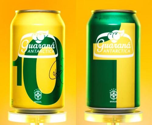 ブラジルの国民的飲料ガラナ、セレソン背番号デザイン缶発売