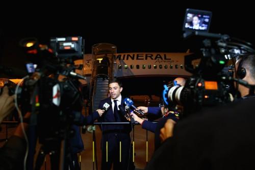 オーストラリア代表がブラジルに到着、開催国以外では一番乗り