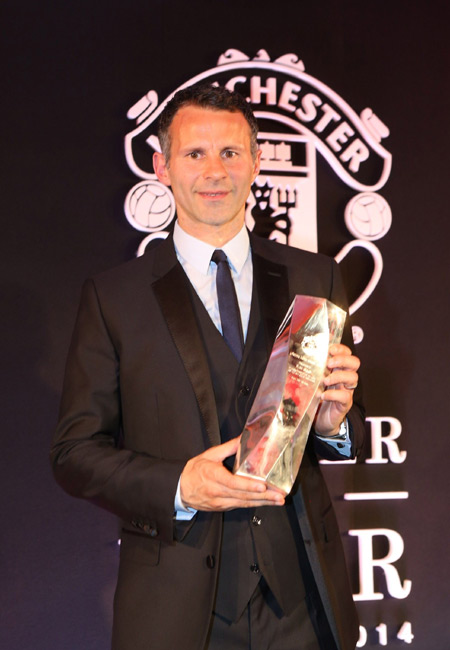 ギグスがマンUの生涯功労賞を受賞「私は幸運な人間」