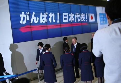 日本代表、ブラジルW杯へ向け離日…直前合宿地アメリカへ出発