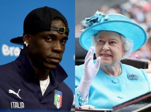伊代表FWバロテッリ、イングランド代表を救うお礼に女王のキス要求