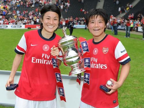 なでしこ近賀、移籍後初得点で優勝貢献…アーセナルが男女FA杯制覇