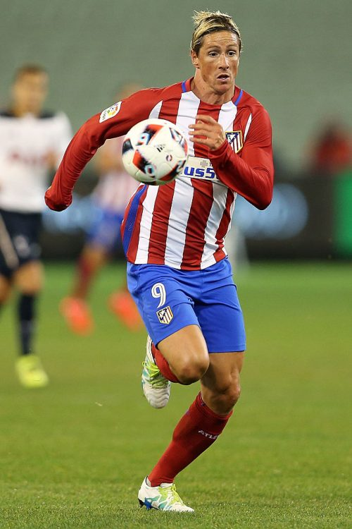 MELBOURNE, AUSTRALIA - JULY 29:  Fernando Torres of Atletico Madrid runs with the ball during 2016 International Champions Cup Australia match between Tottenham Hotspur and Atletico de Madrid at Melbourne Cricket Ground on July 29, 2016 in Melbourne, Australia.  (Photo by Jack Thomas/Getty Images)