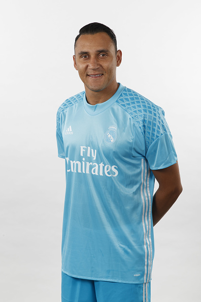 MADRID, SPAIN - AUGUST 18:  Keylor Navas of Real Madrid poses during a portrait session at Valdebebas training ground on August 18, 2016 in Madrid, Spain.  (Photo by Angel Martinez/Real Madrid via Getty Images)